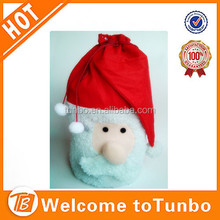 new design christmas bag non woven drawstring santa sack