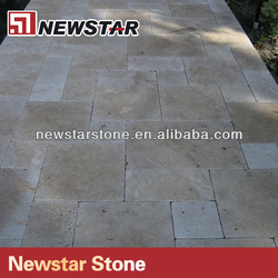 Hot selling tumbled travertine french pattern