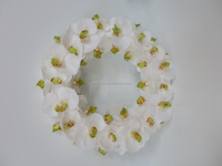 2016 High Quality Artificial Orchid Flower Wreath For Wedding Flower Wedding Backdrop Decoration
