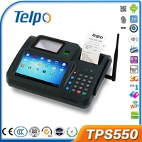 Portable mobile android pos all in one swipe machine with credit card reader for custom bus ticket supermarket