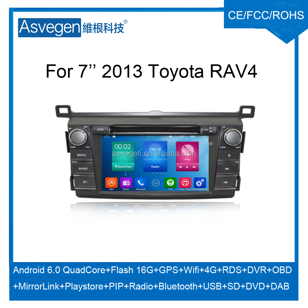 Wholesale Android Car DVD Player For 7'' Toyota RAV4 2013 Car Audio Navigation Support Bluetooth Radio Wifi Playstore