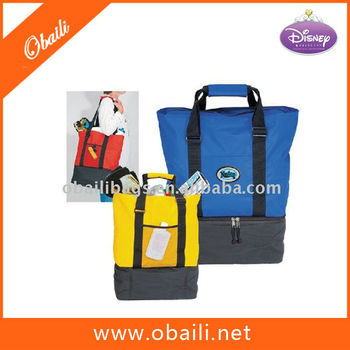 2014 Fashion customized printed cooler bags for food;Beach Tote Cooler Bag