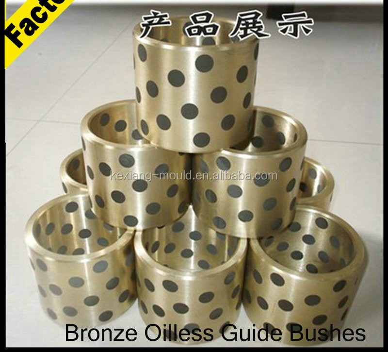 Flanged oil free bronze bushing,graphite filled bronze slide guide bearing,Oilless Guide Components