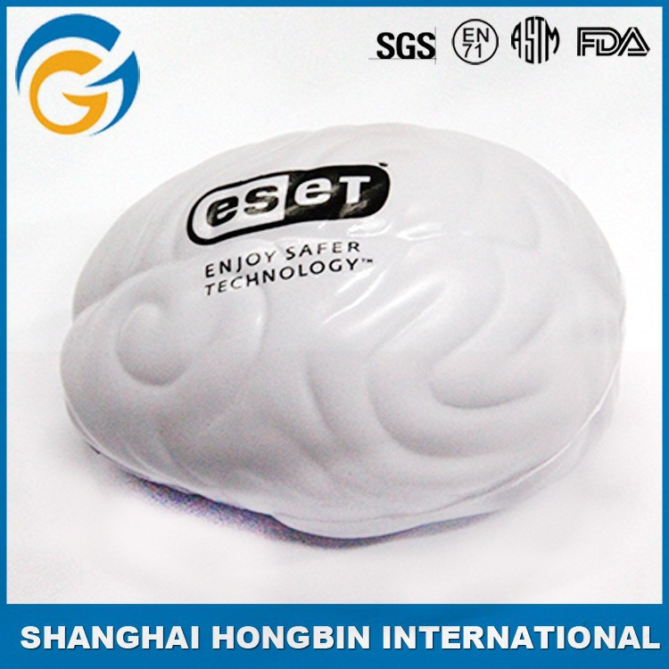 Brain Shaped Stress Balls Red and White Color