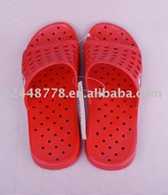 Red slippers rubber Women plastic sandals