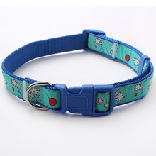 Retractable custom nylon adjustable dog collar buckles for pets
