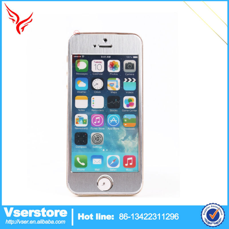 Latest design factory direct sale Mobile Phone Accessories screen protector film roll with gold color For Apple IPhone6 5.5inch