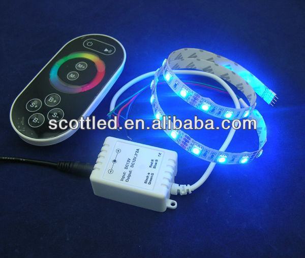 non-waterproof rgb smd 5050 led strip + rf wireless touching rgb led controller