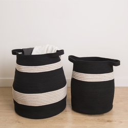 Factory direct offering decorative cotton rope laundry basket