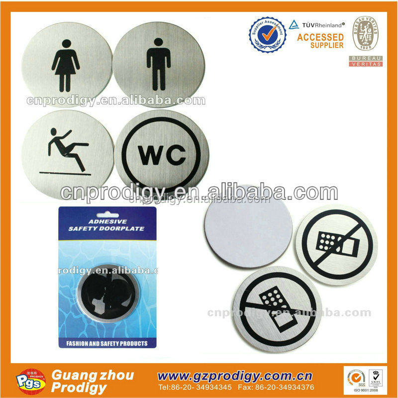 stainless steel door name plates no smoking warning sign