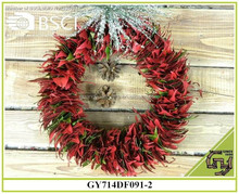 BSCI artificial leaf garland hanging Christmas decors