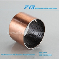 less sensitive to edge loading POM bronze bearing, Good fatigue strength thin wall bushings, tighter tolerance sintered bushes