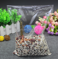 Transparent gift bags/plastic bag with adhesive strip
