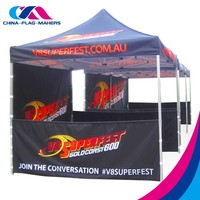 Easy installation tent with iron frame for trade fair