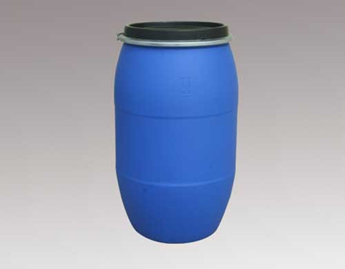 blue chemical resistant plastic barrels/containers/drums