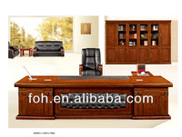 Office table executive antique leather top office desk made in China(FOHS-A32135)