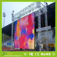 Strong hanging constant current P10 outdoor rental led screen