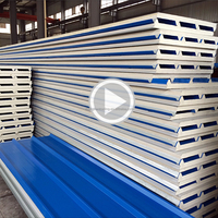 China factory price fire rated fireproof roof wall panel 30mm 50mm polyurethane pu sandwich panel