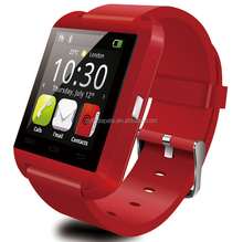 1.5'' OLED display Touch screen GSM hands free low cost smart watch mobile phone U8 for music play