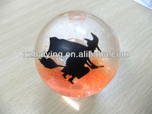 Flashing bouncing rubber ball with batman