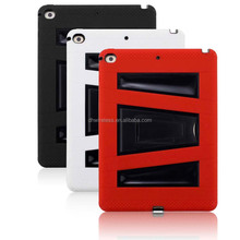 rugged heavy duty Silicone Plastic Kid Proof dustproof Dual Protective case with built in screen for new ipad 2017