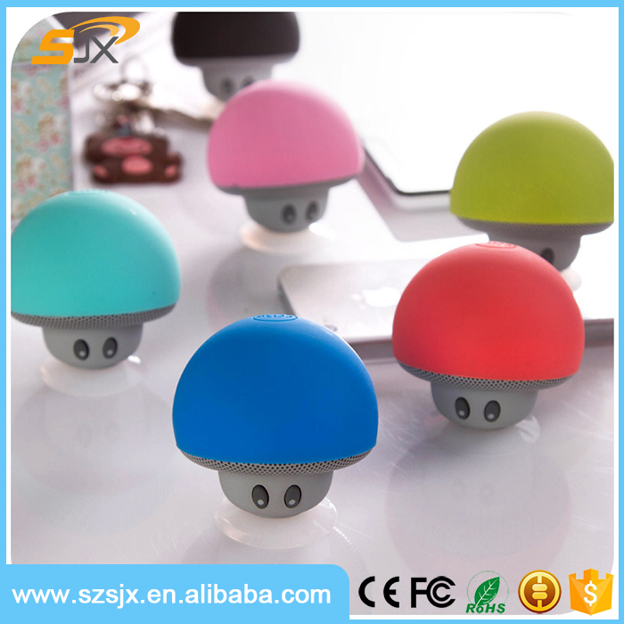 High Popular Mushroom Sucker Bluetooth Speaker 4.0 Music Stereo Subwoofer USB For Android, IOS, PC