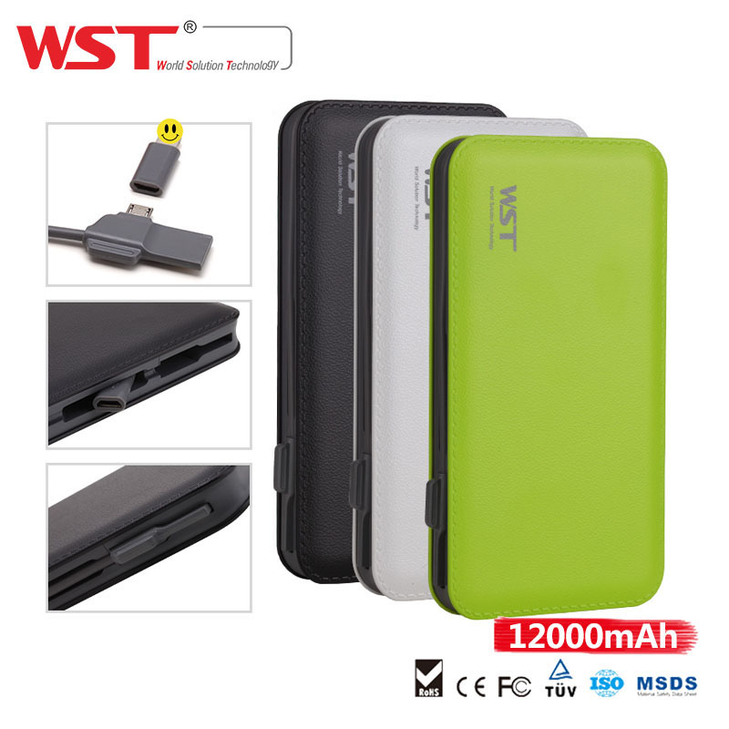 Real capacity factory price 12000mah super hot sale smart power bank