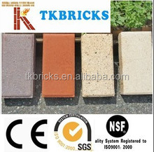 Different color paving brick,clay paving brick,pavers for japan and korean market