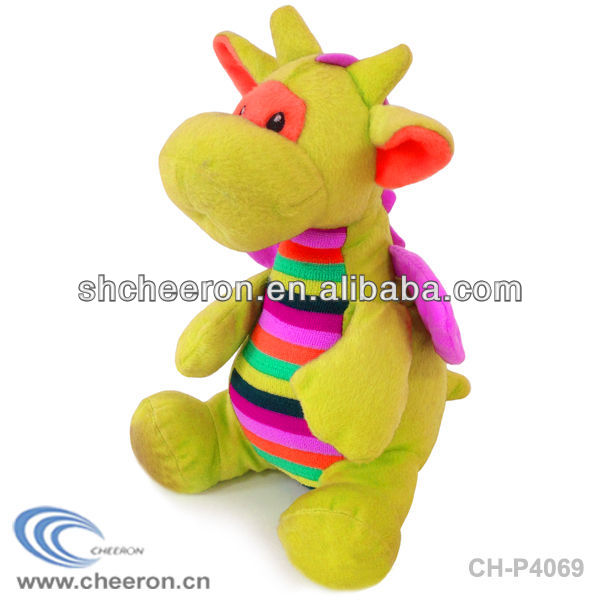 Plush dragon mascot toy