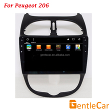 android 7 gps car radio music multimedia DVD system for Peugeot 206