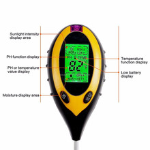 digital ph soil meter 4 in1 Plant Flowers Soil Tester Moisture Light PH Meter