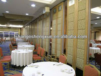 Modular acoustical partition door for church