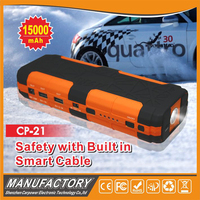 Smart Cable Builit-In 15000mAh Mini Jump Start Car Battery Pack Booster
