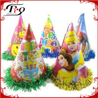 Fringed Foil Party Large Cone Hat