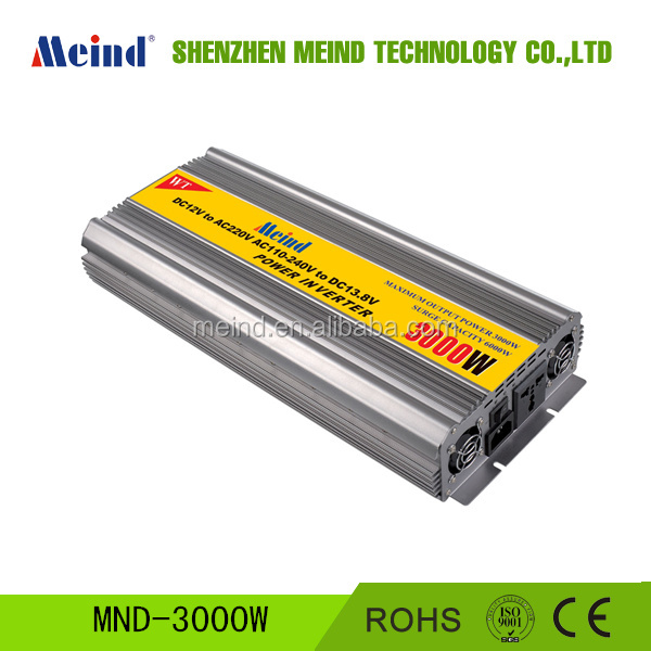 3000W Power Inverter 12V DC to 220V AC Converter AC Adapter Power Supply Car Inverters charger Meind Solar System