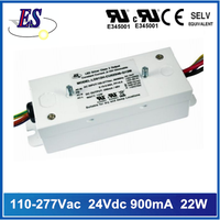 22W 24V 900mA constant current dimmable led driver with 1-10V dimming,UL CUL approval