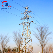 110kV hot dip galvanized electric power transmission line steel angle tower