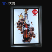 Store advertising slim light box movie poster+indoor used hanging mobile led sign board+Acrylic light box with recharging batter