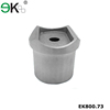 Stainless steel handrail fitting universal top post pipe fitting