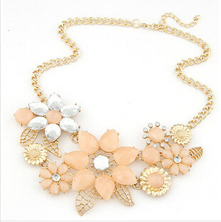 Star Jewelry 2014 New Vintage Jewelry Flower Choker  Shourouk Charm Rhinestone Retro Statement Necklaces & Pendants Gift 76