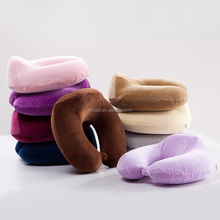 Memory Foam U-Shape Crescent Neck Face Rest Pillow Travel Cushion