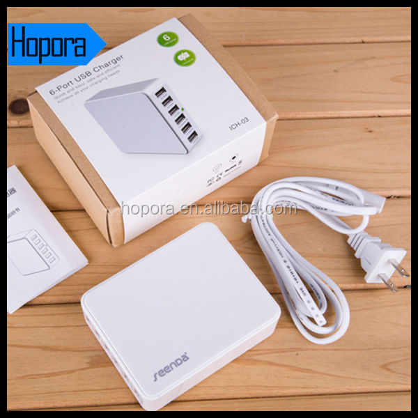 6 Ports Portable Power Adapter Travel Rapid USB Wall Charger