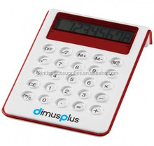 Soundz Desk Calculator lcd display without raised buttons/simple calculater/marketing calculator desktop red