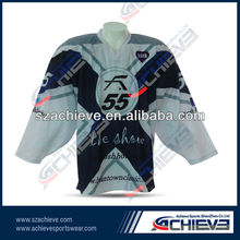 ice hockey jerseys fish eye mesh hockey jerseys for national leagues