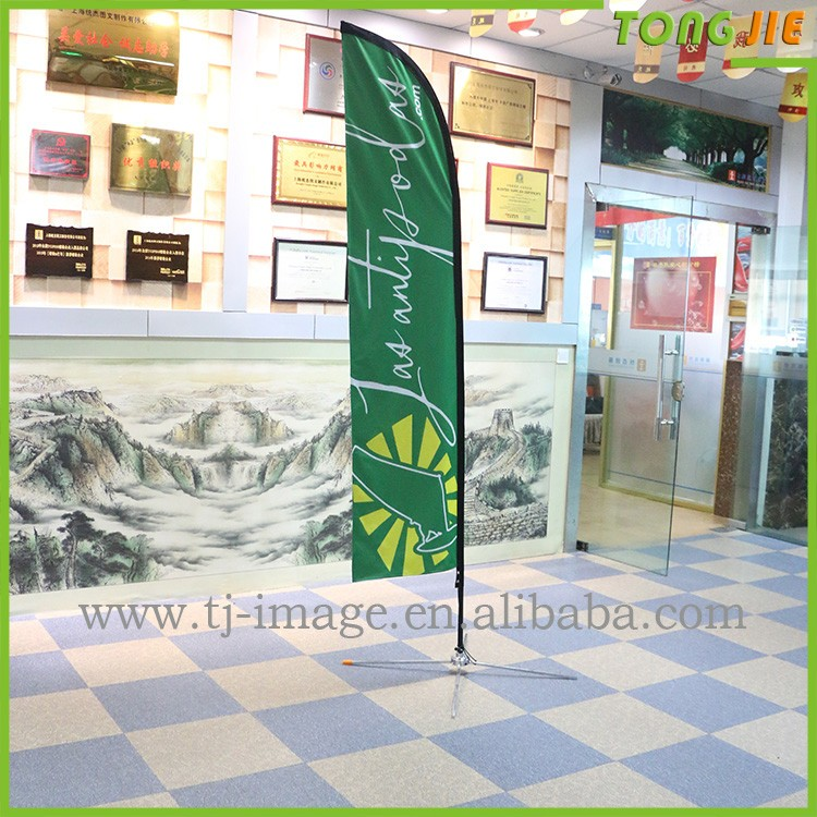 Large single double sided Custom flying promotional banner/printed Beach flying banner feather teardrop banner