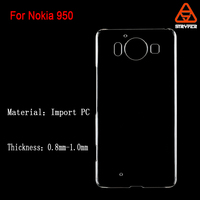 Biaoxin New Plastic high clear transparent anti scratch 3D sublimation blank hard phone case for Nokia Lumia 950, 950XL