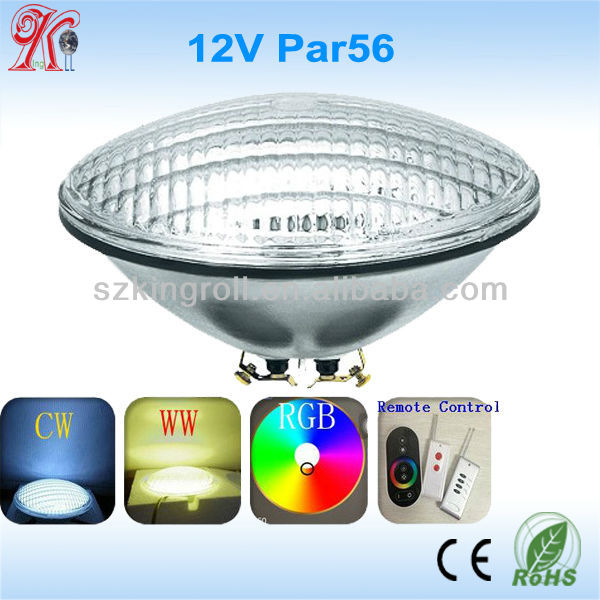 18w 24w 30w 36w par56 led lights underwater RGB 12v led pool light b b light