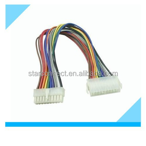 custom 20 pin molex connector wire harness for automobile manufacturer