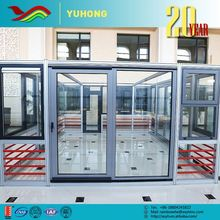 Best selling low price grill design toilet frame living room glass doors