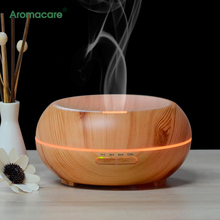 Aromacare Ultrasonic Wood Grain Aroma Humidifier (Up to 8H Use, Mist Control)